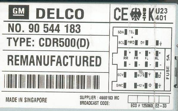 Impala Transmission Control Module Location likewise Monsoon Radio Wiring Harness as well Yale Forklift Parts Diagram also 85 Camaro Dash Wiring Diagram moreover NISSAN Car Radio Wiring Connector. on delco radio wiring diagram